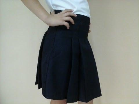 Como Hacer Una Falda Escolar Parte II How To Make A Skirt School Part II