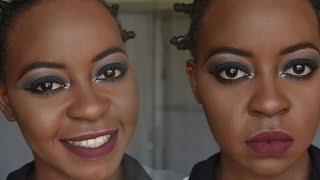 Black Smokey Eye + Bold Lip | OmogeMuRa