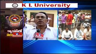 Students Union Leaders Fires On TDP MLC Murthy Hot Comments on Andhra University || HMTV
