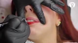 Cosmetics lips tattoo - permanent lip color