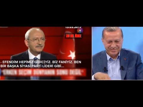 Kılıçdaroğlunun gafları Tayyip Erdoğan 'a izletildi
