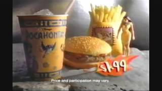Burger King Disney's Pocahontas Toys Ad #1 (1995)