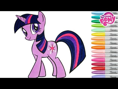 My Little Pony Coloring Book Twilight Sparkle MLP Princess Colouring Pages Rainbow Splash rscb