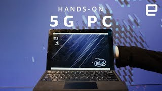 Intel 5G 2-in-1 PC Hands-On at MWC 2018