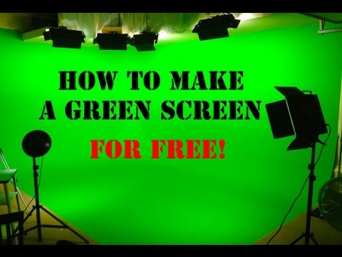 How To Make A Green Screen For FREE!