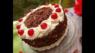 ব্ল্যাক ফরেস্ট কেক তৈরির পারফেক্ট রেসিপি || Easy Black Forest Cake Recipe WITH icing and decoration