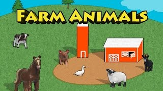 Farm Animals - Spell Goat Horse Duck Pig Sheep Cow For Kids
