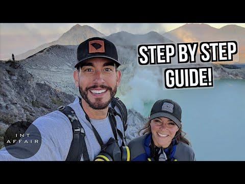 HOW TO CLIMB MOUNT IJEN MOST BEAUTIFUL VOLCANO NEAR BALI