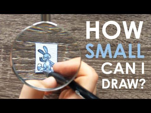 Xxx Mp4 TEENY WEENY CHALLENGE How Small Can I Draw 3gp Sex