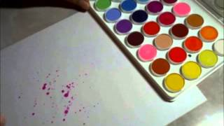 Acrylic Paint Splattering Tutorial