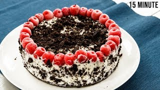 15 मिनट में ब्लैक फारेस्ट केक - black forest cake recipes without oven no bake - cookingshooking