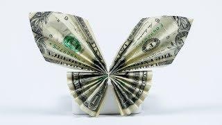 Money Gift Idea: Butterfly, dollar bill origami tutorial, easy!