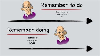 English Grammar: Gerunds & Infinitives; Remember
