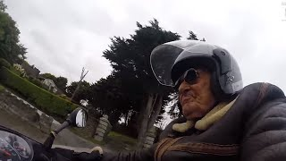 101-Year-Old Man Is Britain's Oldest Biker and Loves Riding His Scooter