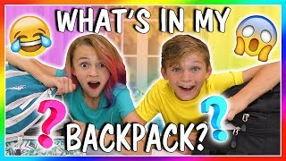 WHAT'S IN MY BACKPACK? | SCHOOL'S OUT! | We Are The Davises