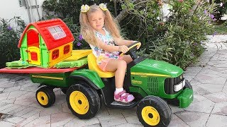 Roma and Diana Pretend Play with toys and Playhouse, Top Videos by Kids Diana Show!
