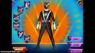 Power Rangers Megaforce Dress Up - Game