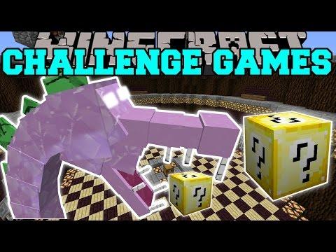 Minecraft SPIKEZILLA CHALLENGE GAMES Lucky Block Mod Modded Mini Game