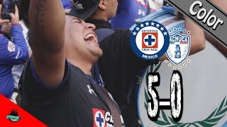 Color Cruz Azul vs Pachuca (5-0) | Goliza cementera | Clausura 2018