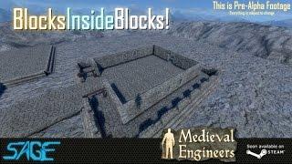 Medieval Engineers, Building, Blocks inside blocks