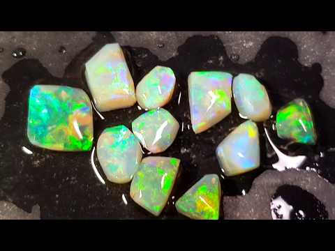 Light Opal Rubs parcel 23.50 cts Lightning Ridge parcel rubbed down lot lapidary