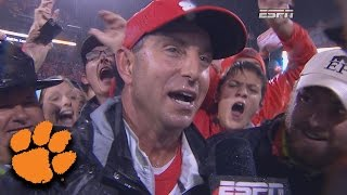 """Dabo Swinney: A BYOG """"Bring Your Own Guts"""" Game in Win Over Notre Dame"""