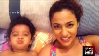 Udari Warnakulasooriya with Baby Girl - www.hirugossip.lk