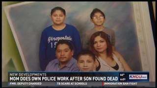 Mom does police work after teen son found dead
