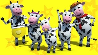 Cow finger family | Nursery rhymes video | Baby songs | Kids rhymes