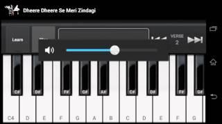 Dhere dhere se meri zindgi mai aana aasiqi movie phone piano