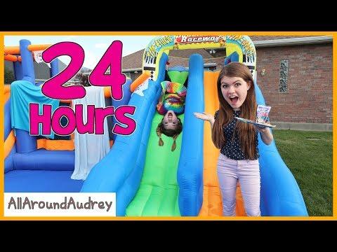 Xxx Mp4 24 Hours In Giant Bounce House Slide AllAroundAudrey 3gp Sex