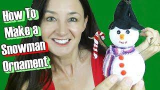 DIY Christmas Tree Ornament - Snowman ⛄