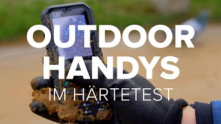 Outdoor-Handys im Härtest: Nokia 800 Tough vs. Caterpillar S52 vs. Gigaset GX290 vs. Cat B35