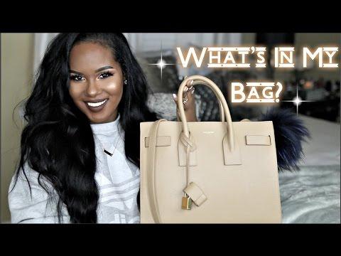 What s In My Bag Saint Laurent Sac De Jour