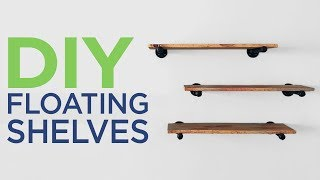 Building Minimalist Shelves with Pipes | 2