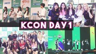 [VLOG] KCON AUSTRALIA 2017 DAY 1   EXO, PENTAGON, GIRL'S DAY, SF9, VICTON   P4pero Dance