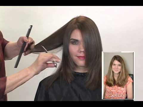 how to cut your own hair in long layers dailymotion