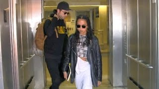 Robert Pattinson's Fiance FKA Twigs Has Engagement Ring OFF As They Arrive Together In L.A.