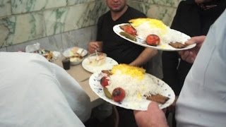 This is a power lunch in Iran