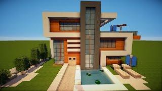 Minecraft Modernes Haus Freitag Hochhaus Braunweiß Bauen - Minecraft haus bauen german