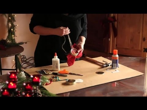 How to Make Christmas Ornaments Out of Jar Lids Ornament Crafts