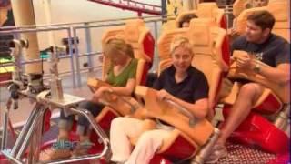 Ellen Rides the Hollywood Rip Ride Rockit!