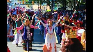 رقص گروهى زيبا و با شكوه ايرانيها در جشن Canada Day