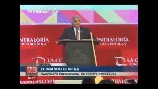 Fernando Olivera propone reorganizar la Contraloría