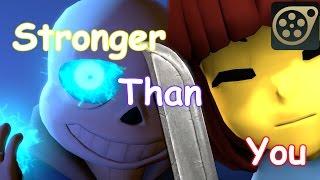 [SFM Undertale] Stronger Than You - Battle with Sans (3D animation)