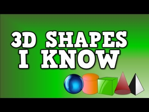 3D Shapes I Know (solid shapes song- including sphere, cylinder, cube, cone, and pyramid)