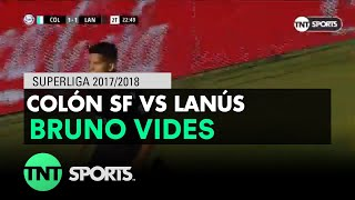 Bruno Vides (1-2) Colón vs Lanús | Fecha 20 - Superliga Argentina 2017/2018