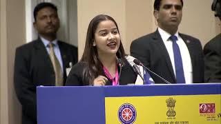 Ist Prize Winner,  National Youth Parliament Festival 2019, Ms. Shweta Umre, Maharashtra