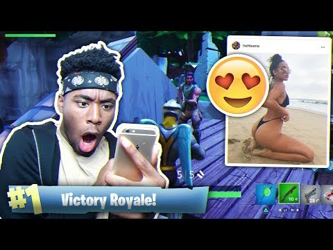 Playing Fortnite WITH My MIDDLE SCHOOL CRUSH Instagram Model