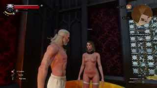 The Witcher 3 PS4 Fully NUDE GIRL in Free Roam + location